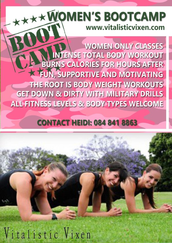 Womens Bootcamp A6 flyer