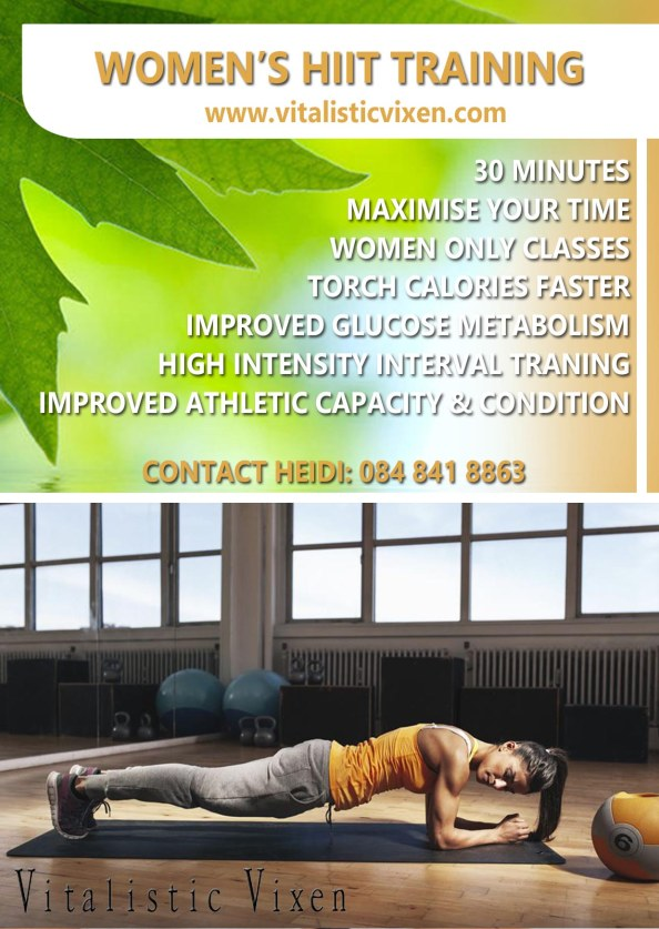 Womens HIIT A6 flyer