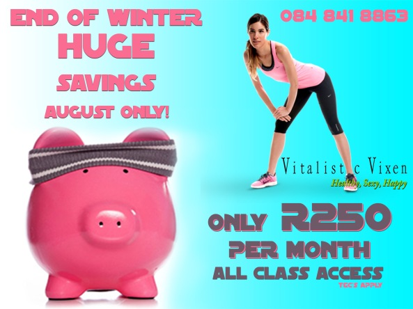 Vitalistic Vixen August Savings